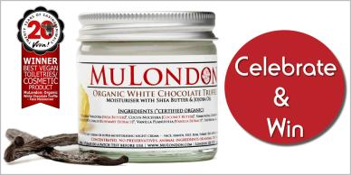 MuLondon's deliciously fragranced, cruelty-free and vegan Organic White Chocolate Truffle Moisturiser has been chosen as the winner of the 20th anniversary Viva! Award.